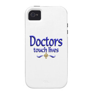 Los doctores Touch Lives Case-Mate iPhone 4 Fundas