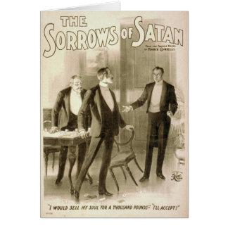 Los dolores de Satan Tarjeta De Felicitación