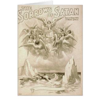 Los dolores del teatro retro de Satan Tarjeta De Felicitación