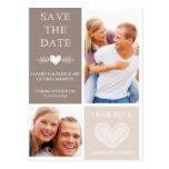 Los Doodles rústicos del corazón ahorran la postal