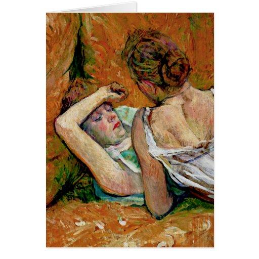 Los dos amigos de Enrique de Toulouse-Lautrec Felicitación