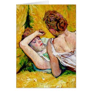 Los dos amigos de Enrique de Toulouse-Lautrec Tarjeta De Felicitación