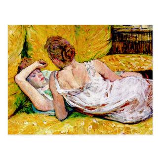 Los dos amigos de Enrique de Toulouse-Lautrec Tarjeta Postal