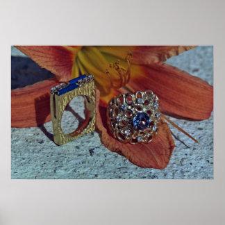 Los dos anillos de las señoras póster