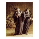Los dos doctores y muertes de Honore Daumier Tarjetas Postales