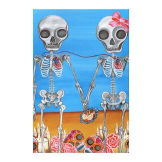 """""""Los dos esqueletos"""" envolvieron la impresión de l Impresiones En Lienzo Estiradas"""