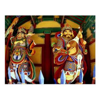 Los dos guardas divinos del Buddhism Tarjetas Postales