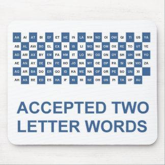 Los dos versión de las palabras E.E.U.U. de la Alfombrilla De Ratón