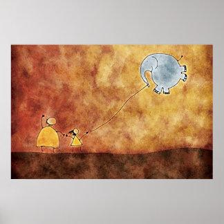 Los dos y el elefante póster