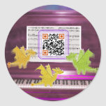 Los dragones locos del piano dicen tienen un gran pegatinas redondas