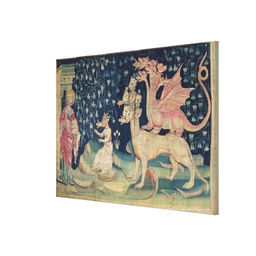 Los dragones que vomitan ranas lona envuelta para galerias