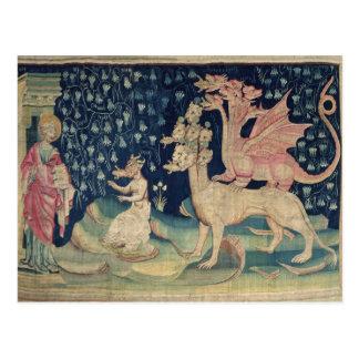 Los dragones que vomitan ranas tarjeta postal