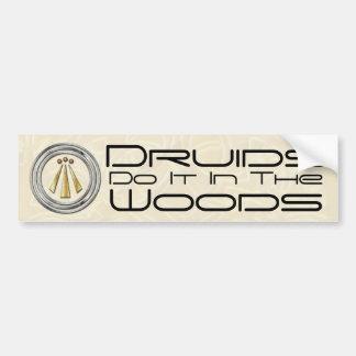 Los druidas lo hacen en las maderas - pegatina par pegatina de parachoque