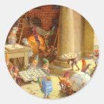 Los duendes de Santa que cuecen las galletas del n Pegatinas