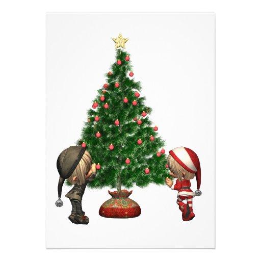 Los duendes del navidad - adorne el árbol anuncios