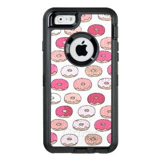 Los dulces del buñuelo del café pican el pastel/a funda OtterBox defender para iPhone 6