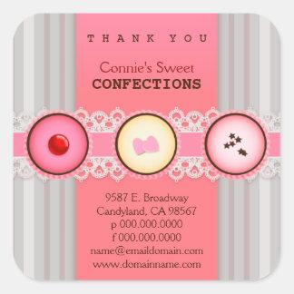 Los dulces dulces de Connie le agradecen pegatina