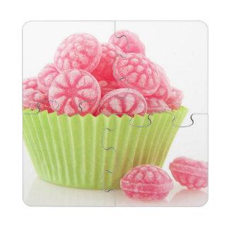 Los dulces sabrosos del caramelo de la frambuesa e