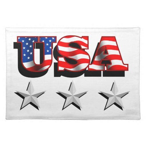 Los E.E.U.U. 1 con las estrellas Placemats Manteles Individuales