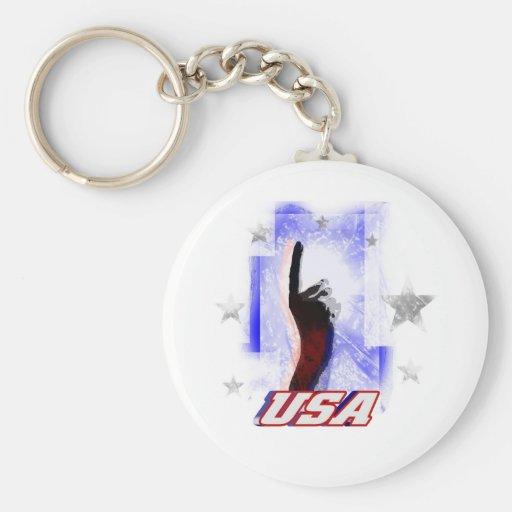 Los E.E.U.U. #1 Llavero Redondo Tipo Pin
