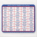 Los E.E.U.U. - 50 estados y capitales Mouse Pads