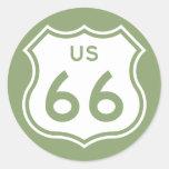Los E.E.U.U. 66 Pegatina