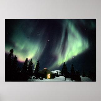 Los E.E.U.U., Alaska, aguas termales de Chena. Aur Poster