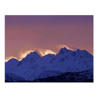 Los E.E.U.U., Alaska, home run. Salida del sol sob Postal