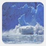Los E.E.U.U., Alaska, Juneau. Parte del aserrador Pegatina Cuadrada