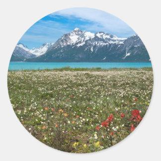 Los E.E.U.U., Alaska, parque nacional 2 del Pegatina Redonda