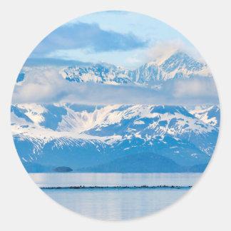 Los E.E.U.U., Alaska, parque nacional 7 del Pegatina Redonda