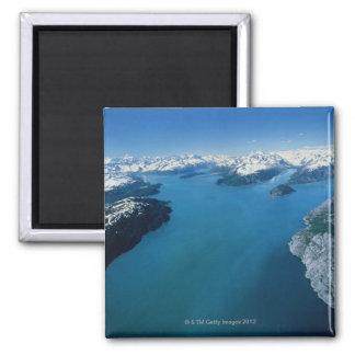 Los E.E.U.U., Alaska, parque nacional del Glacier  Imán Cuadrado
