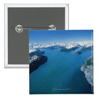 Los E.E.U.U., Alaska, parque nacional del Glacier  Pin Cuadrada 5 Cm