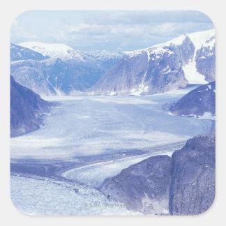 Los E.E.U.U., Alaska, Wrangell-St Elias NP, Pegatina Cuadrada