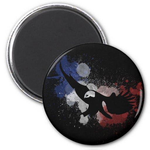 Los E.E.U.U. American Eagle en blanco y azul rojos Iman De Nevera