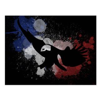 Los E.E.U.U. American Eagle en blanco y azul rojos Postales