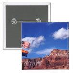 Los E.E.U.U., Arizona, banderas de la remolque en  Pin Cuadrada 5 Cm