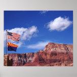 Los E.E.U.U., Arizona, banderas de la remolque en  Póster