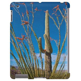Los E.E.U.U., Arizona. Cactus en parque nacional Funda Para iPad
