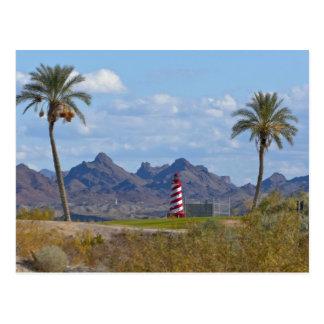 Los E.E.U.U., Arizona, ciudad de Lake Havasu. Faro Tarjetas Postales