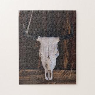 Los E.E.U.U., Arizona. Cráneo en una pared de la Puzzle