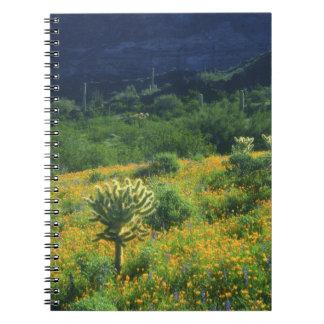 Los E.E.U.U., Arizona, nacional del cactus del tub Spiral Notebooks