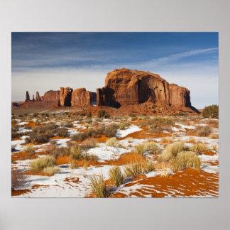 Los E.E.U.U., Arizona, Navajo del valle del monume Póster