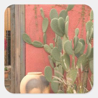Los E.E.U.U., Arizona, Tucson: Distrito histórico Calcomania Cuadrada Personalizada