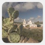 Los E.E.U.U., Arizona, Tucson: Misión San Javier Calcomanias Cuadradas