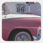 Los E.E.U.U., Arizona, Williams. Rt. 66 ciudad, lo Pegatinas Cuadradases Personalizadas