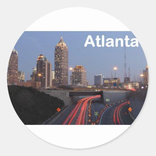 Los E.E.U.U. Atlanta (St.K) Pegatina Redonda