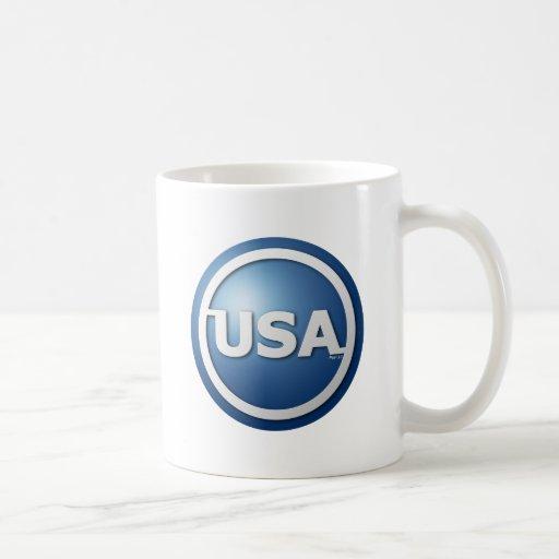 Los E.E.U.U. azules Taza De Café
