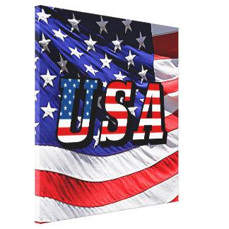 Los E.E.U.U. - Bandera americana Impresión En Lienzo