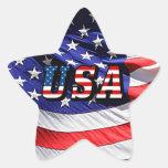 Los E.E.U.U. - Bandera americana Pegatina En Forma De Estrella